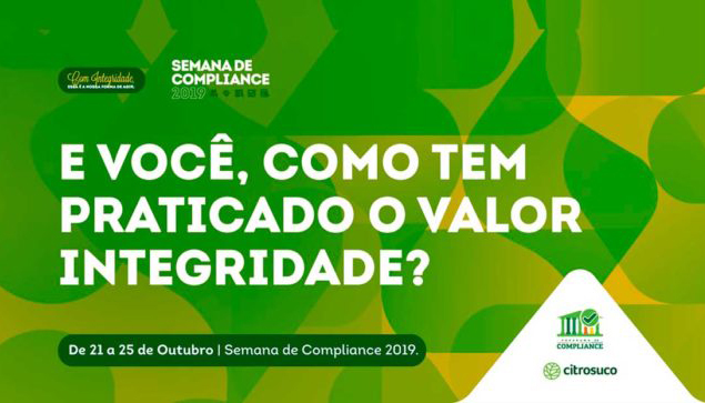 Citrosuco promove Semana de Compliance